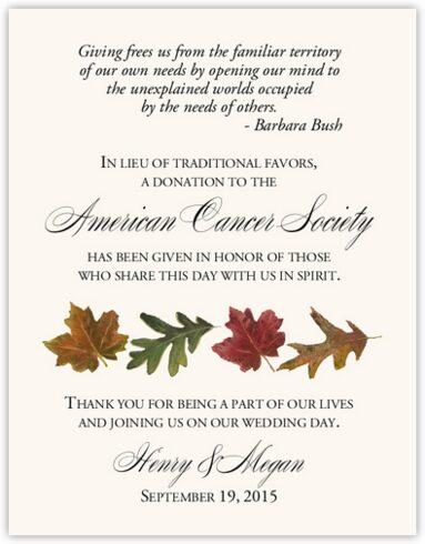 Leaf Pattern Assortment Donation Cards