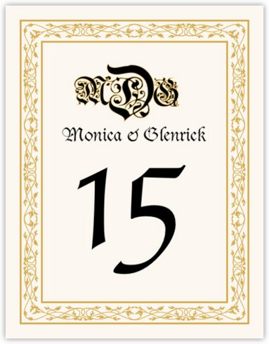 Blackletter Gothic Table Numbers