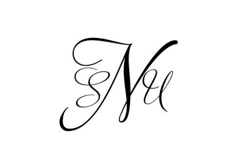 Monogram: Adios Script Monogram 05