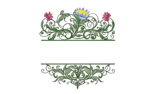 Monogram: Colorful Moon Bloom Botanical Monogram