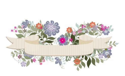 Monogram: Garden Flurry Banner 01 Botanical Monogram