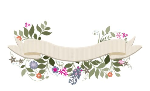 Monogram: Garden Flurry Banner 02 Botanical Monogram