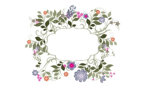 Monogram: Garden Flurry Seal Botanical Monogram