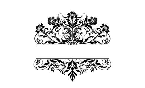 Monogram: Gothic Garden Botanical Monogram