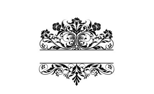 Monogram: Gothic Garden Vintage Monogram