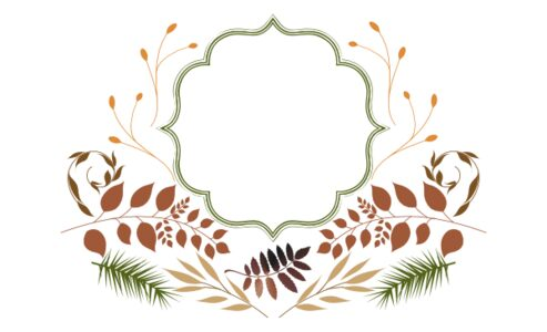 Monogram: Peaceful Autumn Frame Botanical Monogram