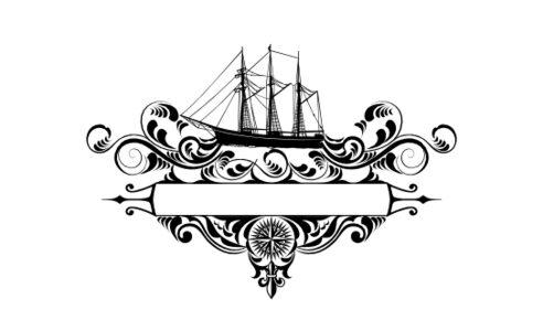 Monogram: Seaworthy Navigation Vintage Monogram