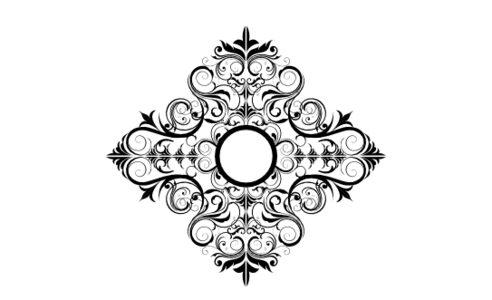 Monogram: Spiral Swirl Vintage Monogram