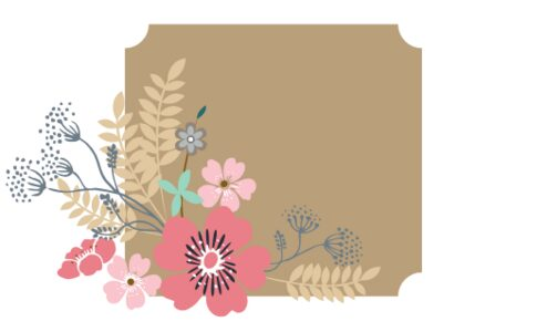 Monogram: Spring Dance Box Botanical Monogram
