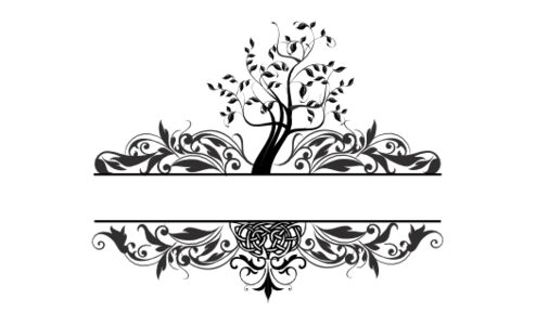 Monogram: Tree of Life Landscape Botanical Monogram