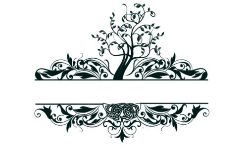 Monogram: Tree of Life Landscape Celtic Monogram