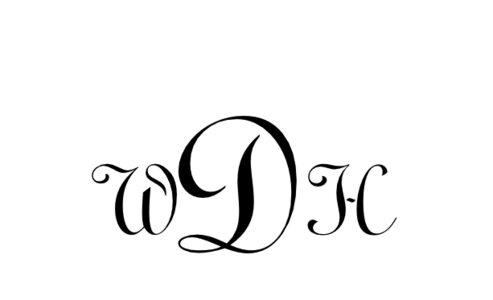 Monogram: Typo Upright Monogram 01