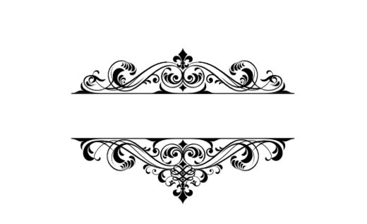 Modern vintage monograms documents and designs