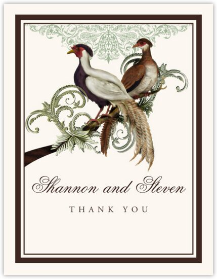 Asian Peace Birds Birds and Butterflies Thank You Notes