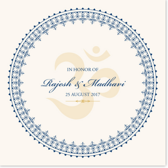 Aum Watermark Indian/Hindu Wedding Programs