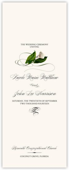 Christian And Catholic Wedding Program Templates And Program