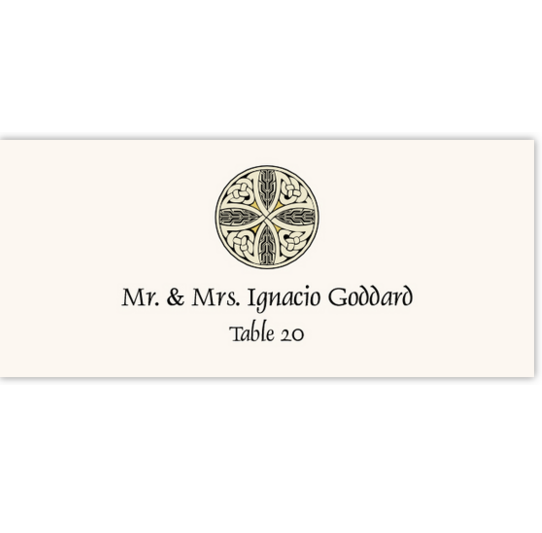 Celtic Cross 07 Celtic/Irish Inspired Wedding Place Cards