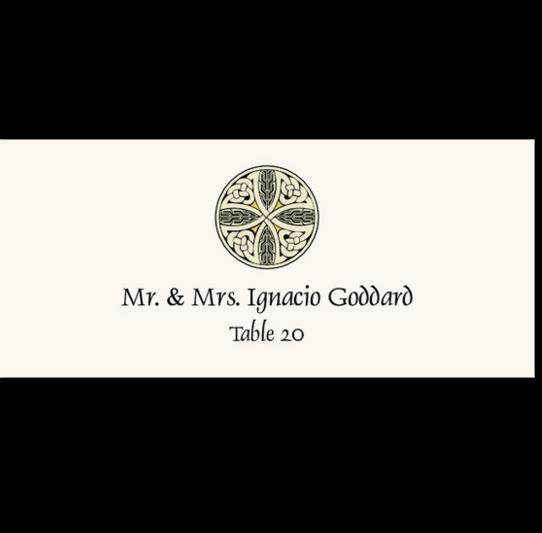 Celtic Cross 07 Celtic/Irish Inspired Wedding Place Cards