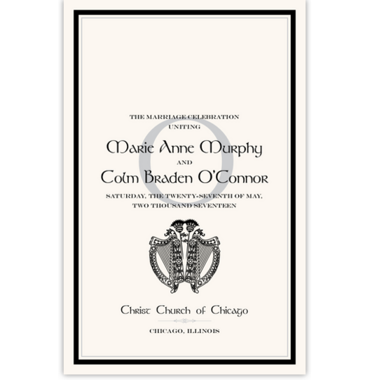 Harp and Thistle Celtic Wedding Programs