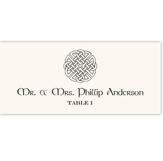 Celtic Knot Assortment Celtic/Irish Inspired Wedding Place Cards