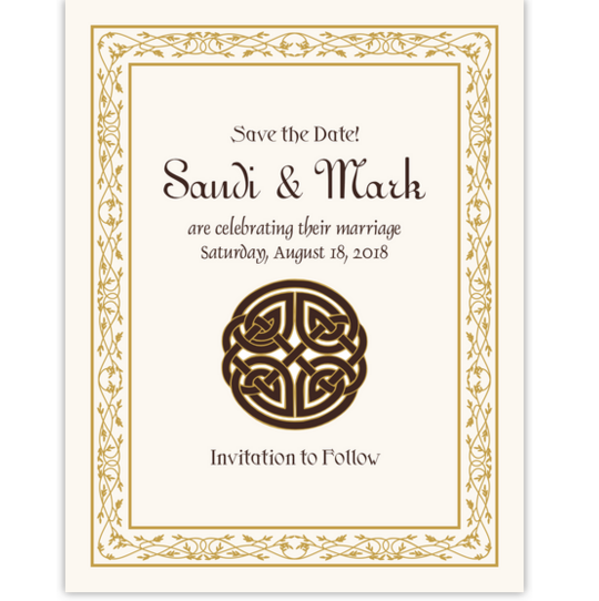Celtic Knot Culturally Inspired Save the Dates