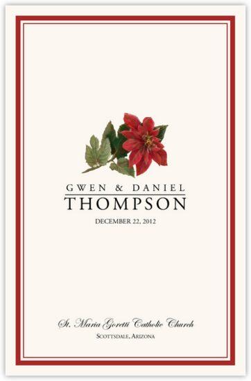 Poinsettia Winter and Holiday Wedding Programs