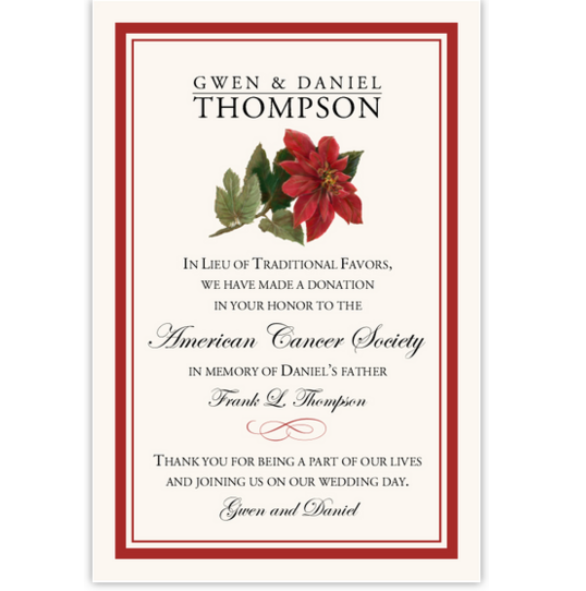 Poinsettia Winter, Snowflake, and Holiday Donation Cards