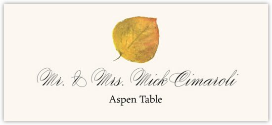 Aspen Colorful Leaf Autumn/Fall Leaves Place Cards