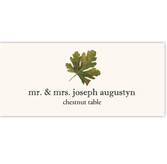Chestnut Colorful Leaf Autumn/Fall Leaves Place Cards