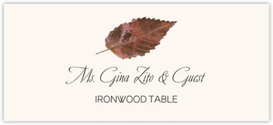 Ironwood Colorful Leaf Autumn/Fall Leaves Place Cards