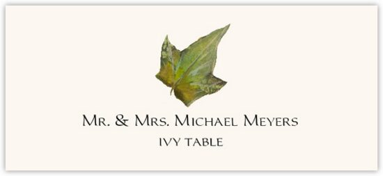 Ivy Colorful Leaf Autumn/Fall Leaves Place Cards