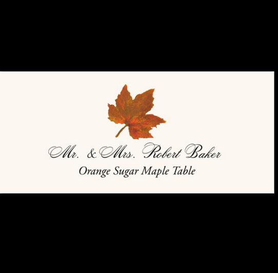 Orange Sugar Maple Colorful Leaf Autumn/Fall Leaves Place Cards