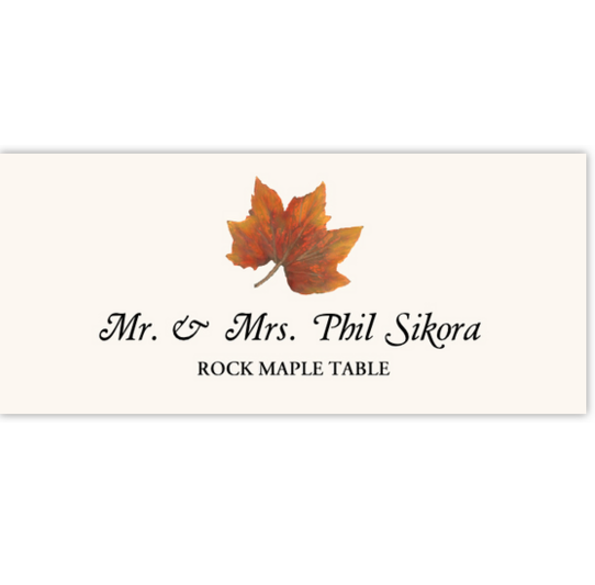 Rock Maple Colorful Leaf Autumn/Fall Leaves Place Cards