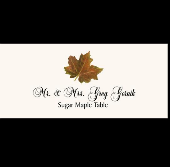 Sugar Maple Colorful Leaf Autumn/Fall Leaves Place Cards