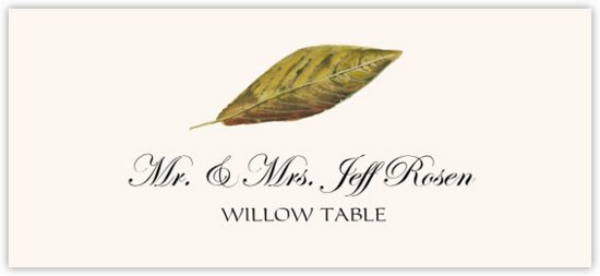 Willow Colorful Leaf Autumn/Fall Leaves Place Cards