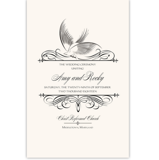 Constitution Flourish Birds Birds and Butterflies Wedding Programs