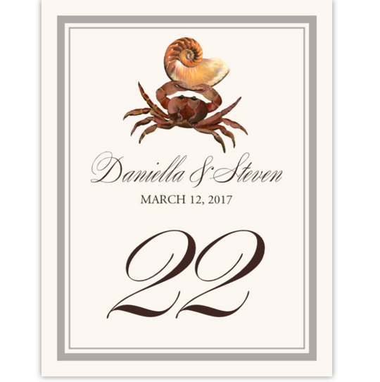 Crab Shell Tropical, Freshwater and Saltwater Fish Table Numbers