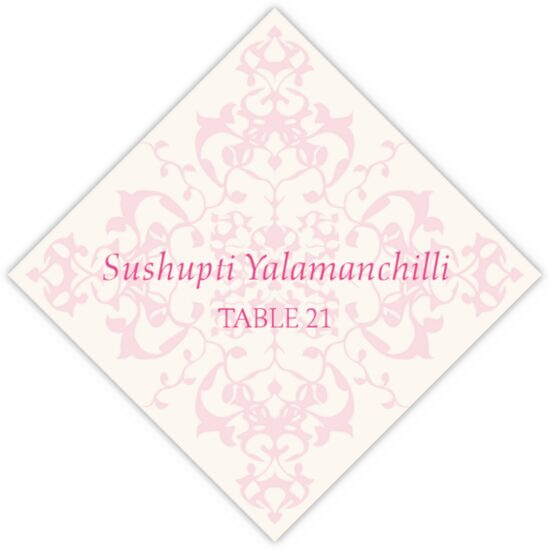 Diamond Mandala Contemporary and Classic Place Cards