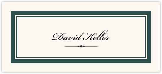 Divider 0498 Contemporary and Classic Place Cards