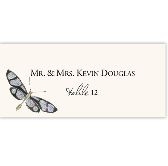 Dragonflies Birds and Butterflies Place Cards