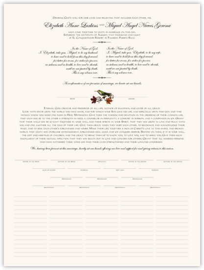 Fall Indy Autumn Leaves Wedding Certificates