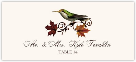 Fall Indy Autumn/Fall Leaves Place Cards