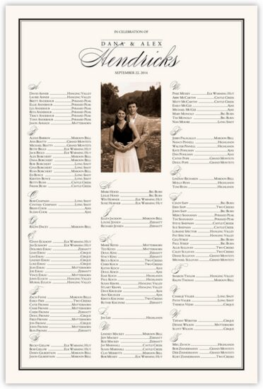 Forever Summer Photography Wedding Seating Charts