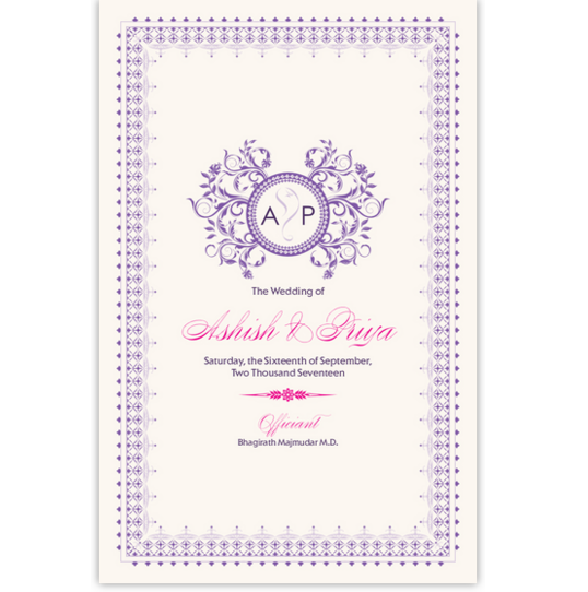Gingee Ganesha Indian/Hindu Wedding Programs