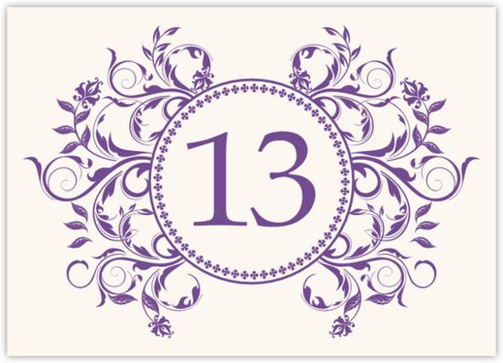 Gingee Full Contemporary and Classic Table Numbers