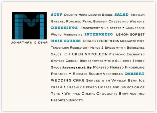 Contemporary Monogram 05 Contemporary and Classic Menus