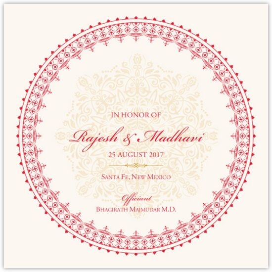 Henna Watermark Indian/Hindu Wedding Programs