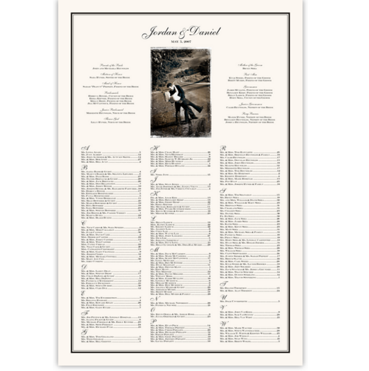 Hopeless Romantic Photography Wedding Seating Charts