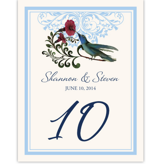 Humdilly Flourish Birds and Butterflies Table Numbers