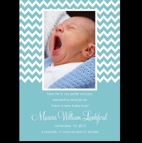 Jagged Artisan Birth Announcements